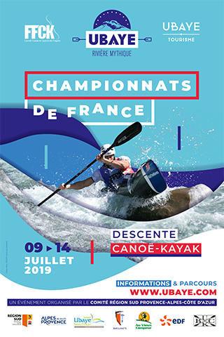 Affiche Championnat de France Descente 2019